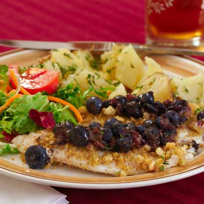blueberry salsa on fish